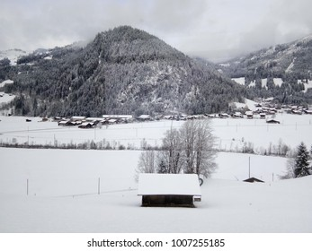 view of snow covering, Switzerland