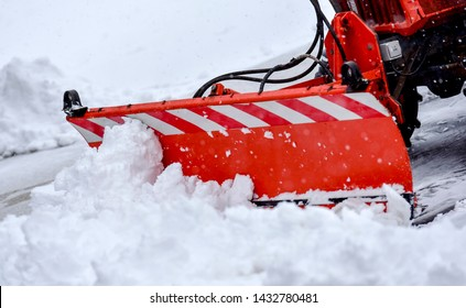 view of a snowplow in action