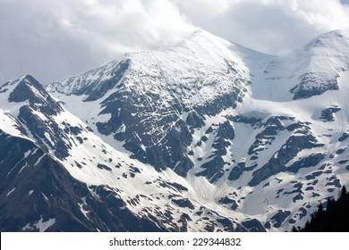 view of the snowy Alps, Austria