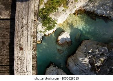 View of Soca River in Triglav National Park, Slovenia