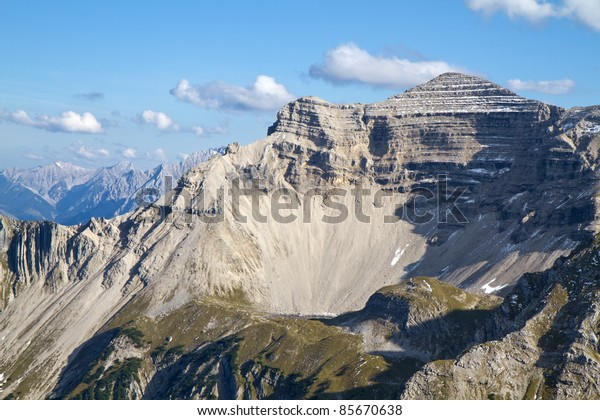 """View to the """"Soiernspitze"""" peak, bavarian alps, Germany"""