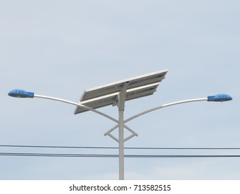 View of Solar Street Lights