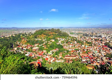 View of some districts from the hills of Antananarivo, Madagascar