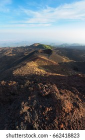 View of some old craters from Silvestri craters on Mount Etna.