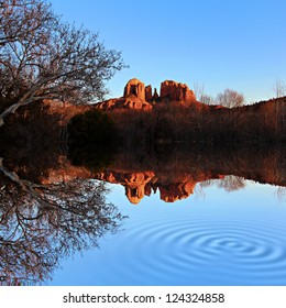 A view of some of the red rocks in Sedona, Arizona, USA