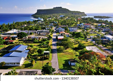 View of Song Song Village from the Observatory (Rota, Northern Mariana Islands)
