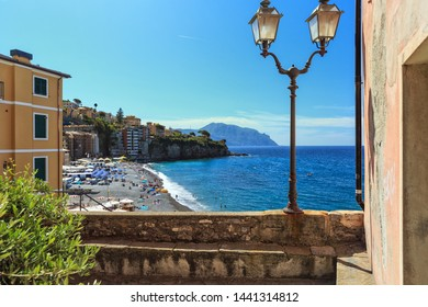 view of Sori, small town in Liguria, Italy