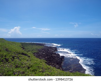 A View of the south pacific ocean from the Saipan Banzai Cliff, North Mariana