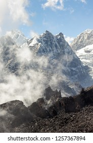 View to the South from the Renjo Pass (5360 m) - Everest region, Gokyo valley, Nepal, Himalayas