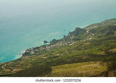 A view of the southern coast of Crimea from the mountain Ai-Petri.