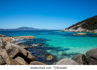 A view of the Southern Ocean from a Little Beach in Two Peoples Bay Reserve near Albany, Western Australia