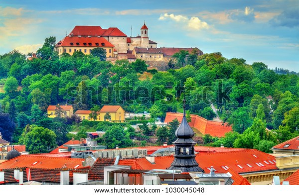 View of Spilberk Castle in Brno - Moravia, Czech Republic