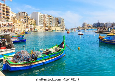 A view of a Spinola Bay in St. Julian, Malta