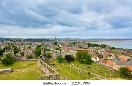 View of St Andrews, Scotland, from St Rule's Tower