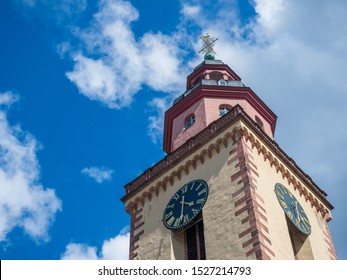 View of The St. Catherine's Church in Frankfurt am Main, Germany.