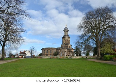 View of St Chad's Church in Shrewsbury, England
