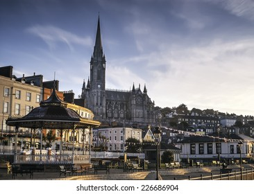 A View of St Colman's Cathedral in Cobh, Ireland.