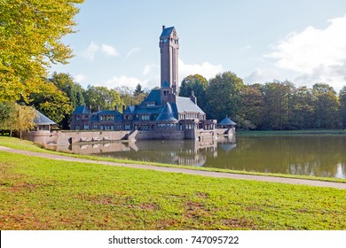 View of St. Hubertus Hunting Lodge in Dutch National Park De Hoge Veluwe in the Netherlands