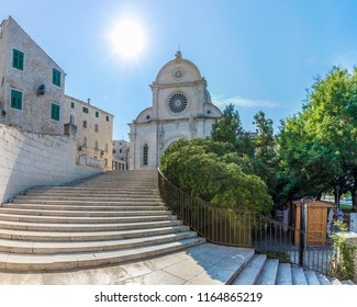 View of St James cathedral in Sibenik, UNESCO place