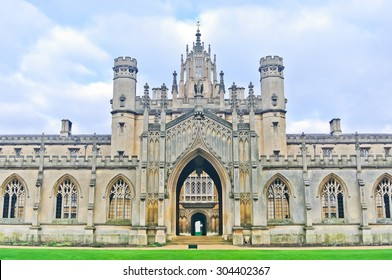 View of St John's College, University of Cambridge in Cambridge, England, UK.
