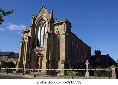 View of St. Mary's Roman Catholic Church in Hamilton, Scotland. Built in 1846 in Early English style, this is the second-oldest Catholic church in Lanarkshire after St Margaret's, Airdrie