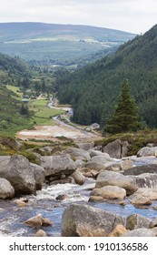 a view of St. Kevin´s Monastery, Glendalough, County Wicklow, Ireland