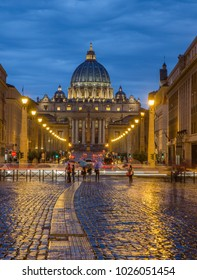 a view of the St Peter basilica of Vatican