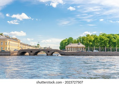 View of St. Petersburg and the Fontanka River from the Neva River