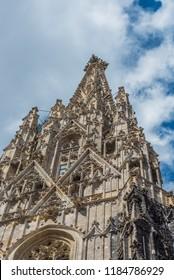 View of St. Stephen's Cathedral, Vienna, Austria. Vertical