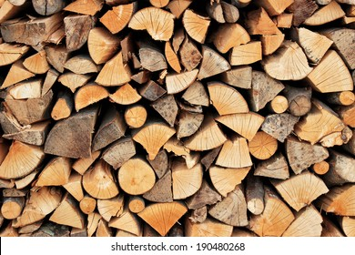 View of a stack of firewood