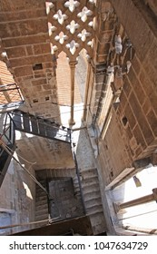 View of staircase in old church in Trogir