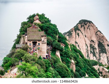 A view of the stairs trail to the North Peak at Huashan mountain - Xian, Shaaxi Province, China