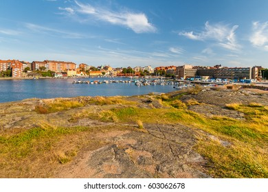 View from Stakholmen island on central marina, Karlskrona, Sweden
