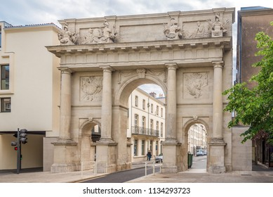 View at the Stanislas gate in Nancy, France