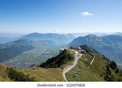View from the Stanserhorn mountain, Switzerland. The Stanserhorn is a mountain in Switzerland, located in the canton of Nidwalden.