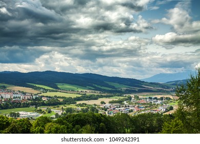 The view from the Stara Lubovna Castle, Slovakia