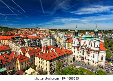 View of Stare Mesto Old City and and St. Nicholas Church from Town Hall - Shutterstock ID 1944888535