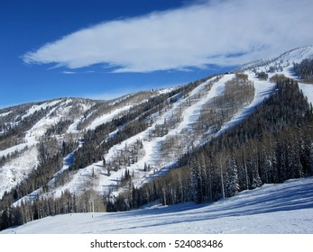 View of Steamboat Springs mountains; Colorado, USA