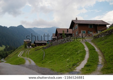 A view of Steg a small village in central Liechtenstein on the road betwen the capital Vaduz and Malbun