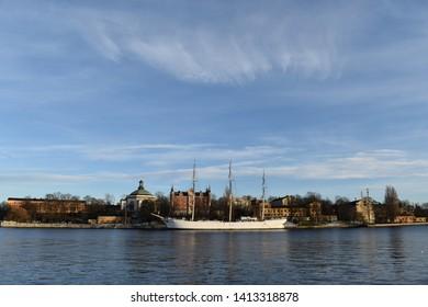 View of the STF Stockholm/af Chapman Skeppsholmen in Sweeden