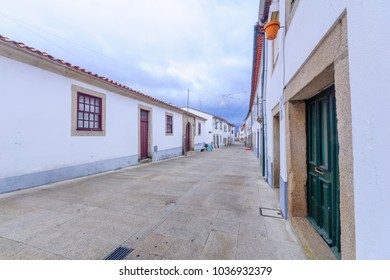 View of a street in the historic old town of Miranda do Douro, Portugal