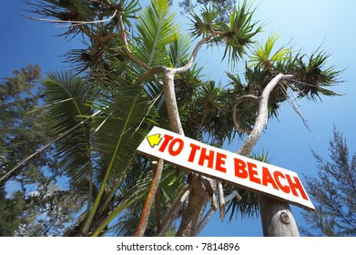 view of street sign in nice tropi? environment