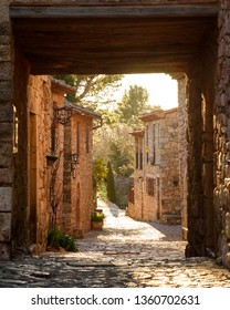 View from the streets of Siurana, a village in Catalonia, Spain