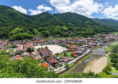 View in streets in Tsuwano town, Shimane prefecture, Japan
