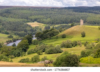 A view of the Strines Moors and Bradfield Dales on the outskirts of Sheffield, England.