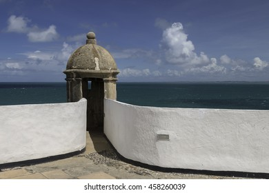 view with strong detail of Barra in Salvador Bahia Brazil