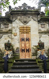 View of a structure inside the Royal palace, Ubud, Bali, Indonesia.