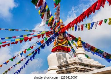 View at the Stupa at Namo Buddha, Kathmandu, Nepal