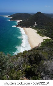 View of a succession of four beaches on australian coastline