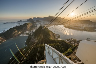 View from Sugar Loaf mountain in Rio de Janeiro, Brazil